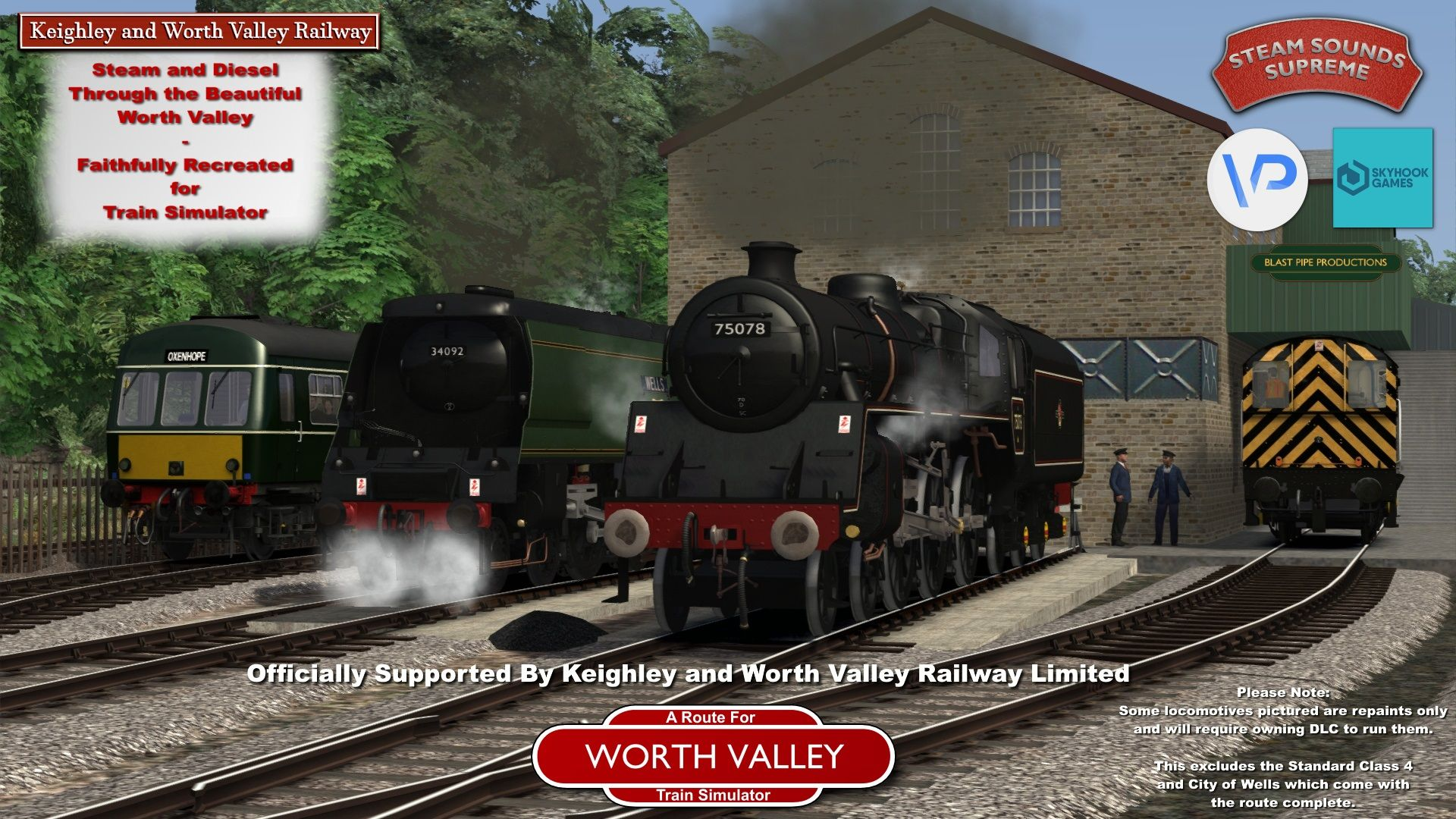 The Keighley and Worth Valley Railway is nu beschikbaar