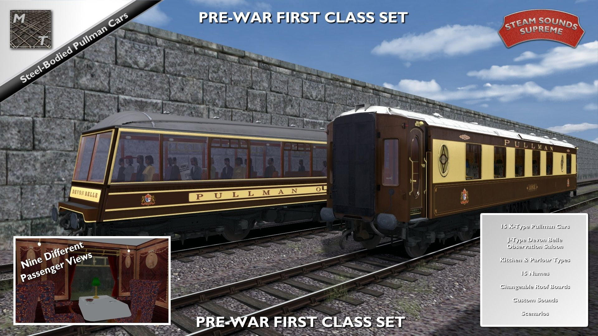 Matrix Trains Pullman Cars - Pre-War Era Set 1 FIRST CLASS is nu beschikbaar