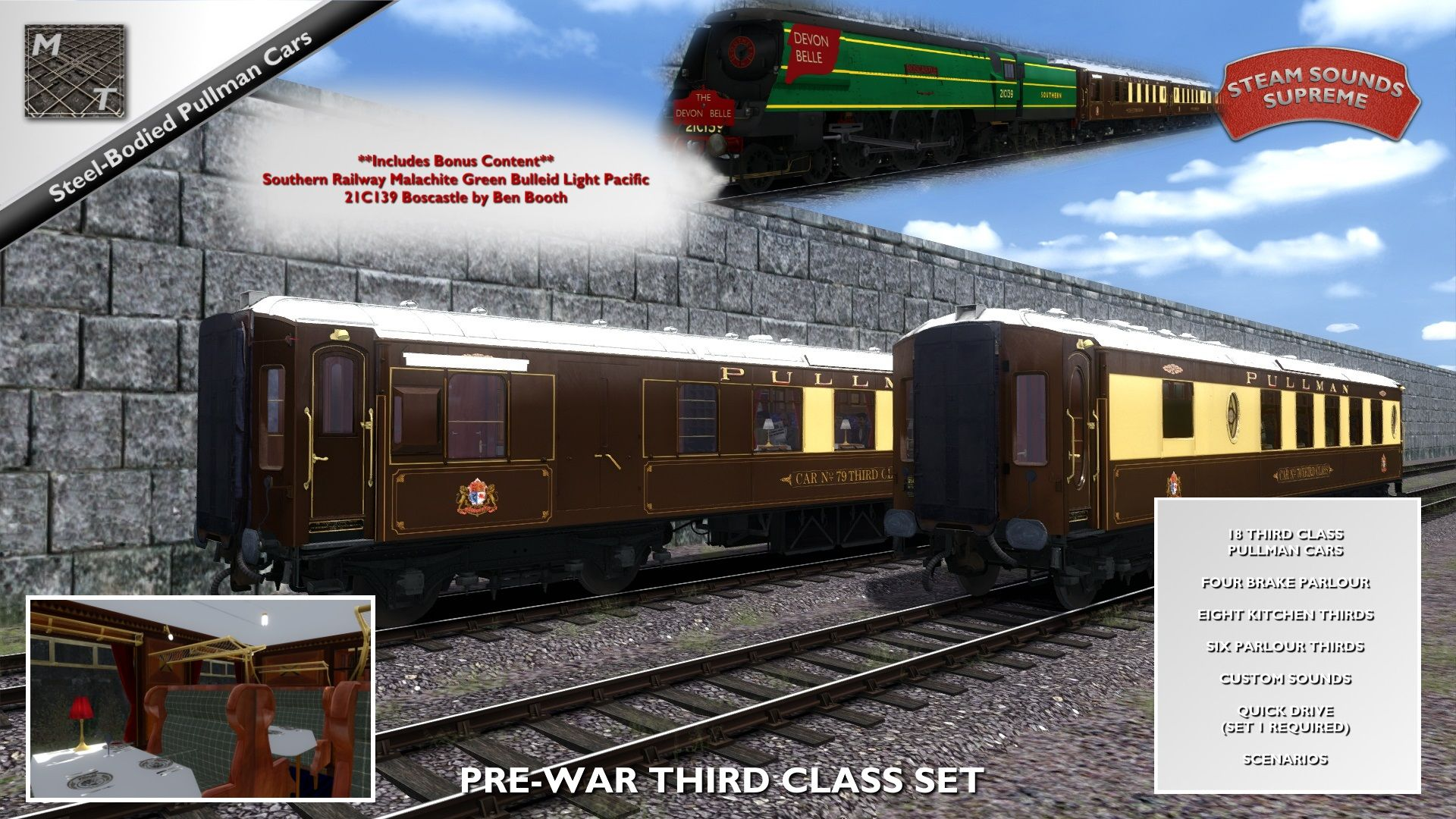 Matrix Trains Pullman Cars Set 4 - Pre-War Era Third Class is nu beschikbaar