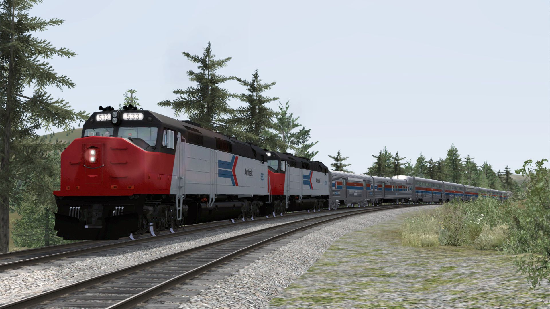 Nu uit op Steam: Amtrak SDP40F Loco Add-On