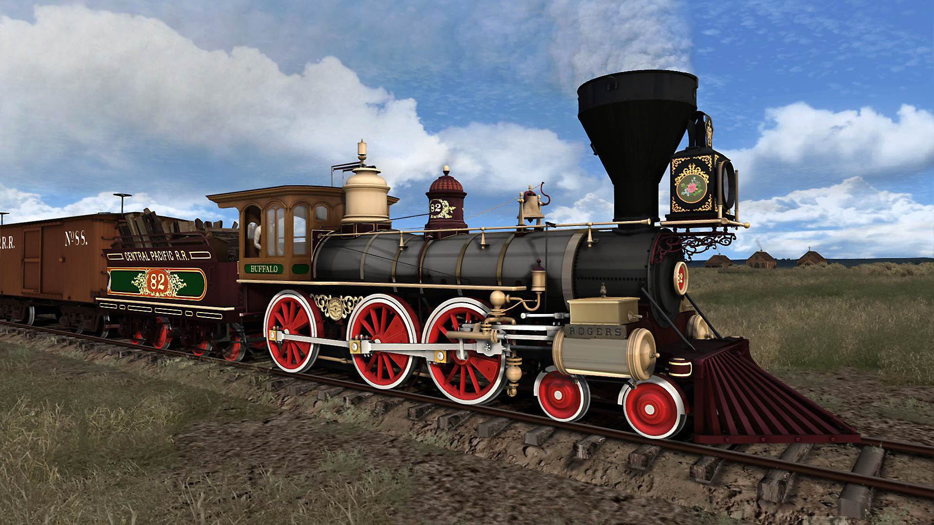 CPRR 4-6-0 Buffalo Steam Loco Add-On nu uit op Steam
